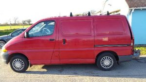 Van before moped and polished